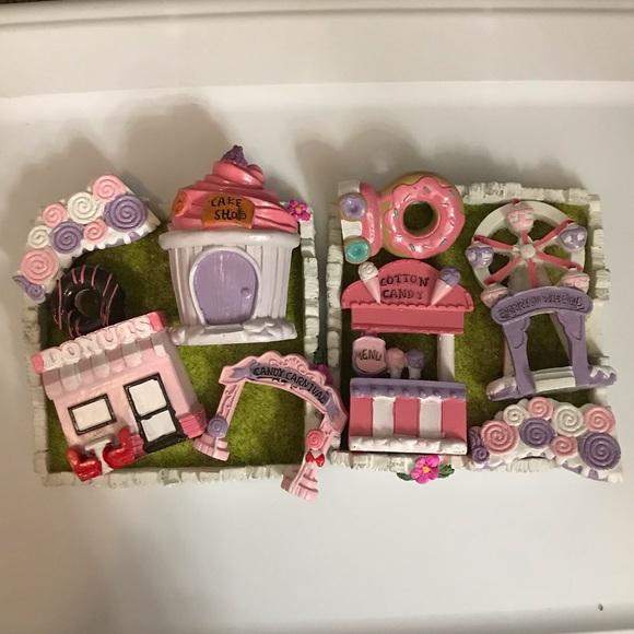 Sweets theme fairy garden set